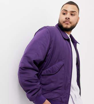 Asos DESIGN Plus bomber jacket in purple