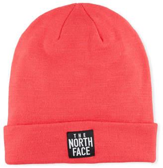 The North Face Men's Dock Worker Fold-Over Beanie, Pink