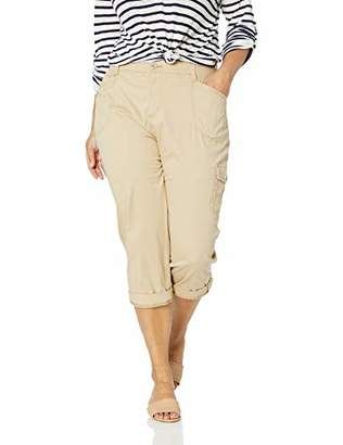 Lee Women's Plus Size Flex-to-Go Relaxed Fit Cargo Capri Pant