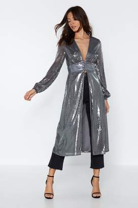 Nasty Gal Sequin You Shall Find Longline Top