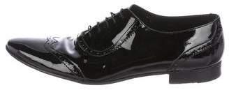 Saint Laurent Brogue Patent Leather Oxfords
