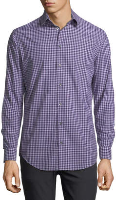 Giorgio Armani Variegated Gingham Dress Shirt