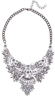 Eye Candy Los Angeles Crystal Detail Angel Necklace