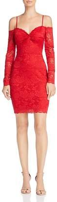 GUESS Gabbie Cold-Shoulder Lace Dress