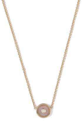 Retrouvai - Compass Gold & Diamond Necklace - Womens - Pink