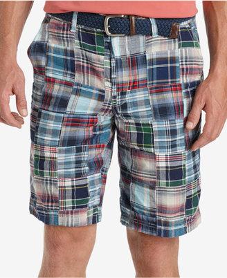 IZOD Men's Flat Front Madras Patchwork Shorts $60 thestylecure.com