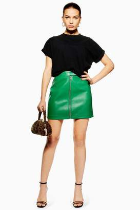 Topshop PU Mini Skirt