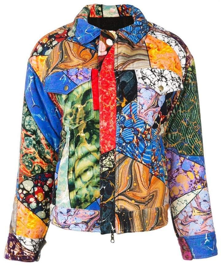 mix print jacket