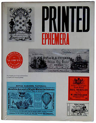 One Kings Lane Vintage Printed Ephemera: Changing Uses of Type