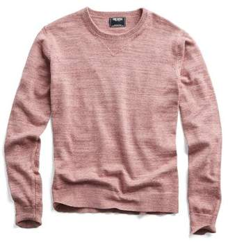 Todd Snyder Cotton Cashmere Spaced Dyed Sweater in Pink