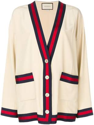 Gucci Web-trimmed cardigan