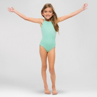 Vanilla Beach® Girls' Scallop Trim One Piece Swimsuit - Mint $22.99 thestylecure.com