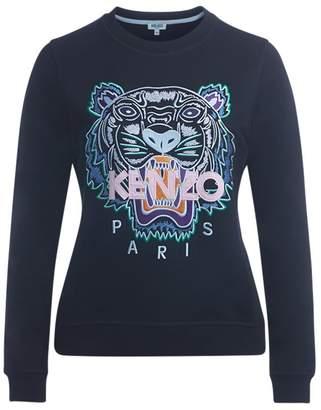 Kenzo (ケンゾー) - Kenzo Black Tiger Fleece With Multicolor Embroidery.