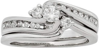 JCPenney FINE JEWELRY LIMITED QUANTITIES 1/2 CT. T.W. Diamond 14K White Gold Bridal Ring Set