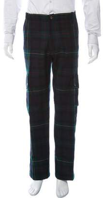 Ralph Lauren Purple Label Plaid Wool Cargo Pants