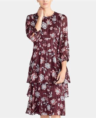 Rachel Roy Floral-Print Ruffled Midi Dress