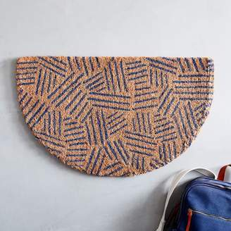 west elm Tossed Dash Semi-Circle Doormat