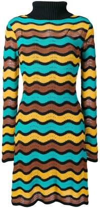 M Missoni patterned roll neck dress