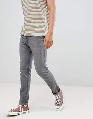 Pull&Bear Regular Slim Fit Comfort Jeans In Grey
