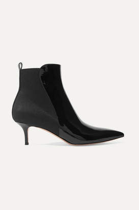 Gianvito Rossi Patent-leather Ankle Boots - Black