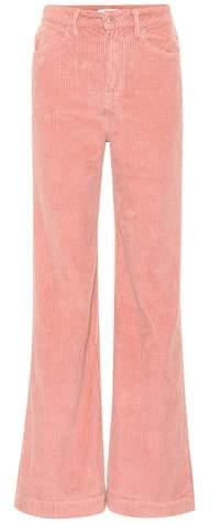 Carla high-rise corduroy pants