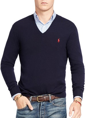 Polo Ralph Lauren Stretch Merino Slim Fit V-Neck Sweater $165 thestylecure.com