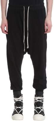 Drkshdw Black Jersey Cotton Pants