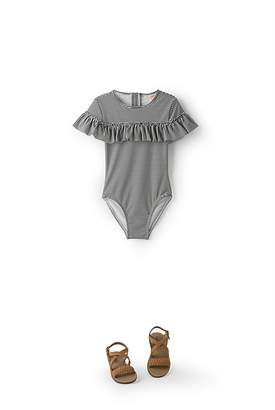 Country Road Frill Stripe Bather