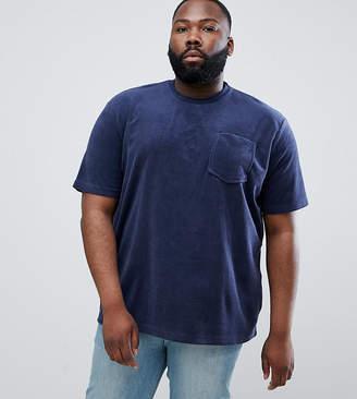 Jacamo T-Shirt In Navy Towelling