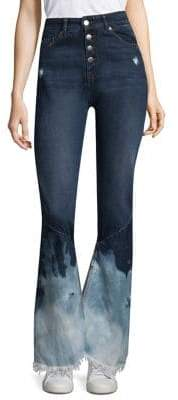 Each X Other Bleached Flare Jeans