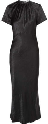 Georgia Alice - Moons Crinkled-satin Maxi Dress - Black