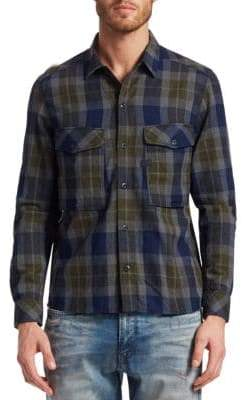 G Star Cotton Check Utility Shirt
