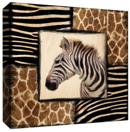 African Zebra Decorative Canvas Wall Art 16