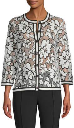 Karl Lagerfeld Lace Button-Down Shirt
