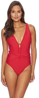 Athena Women's Twist Front One Piece Swimsuit