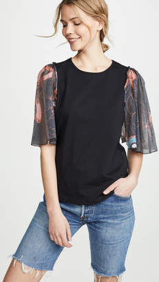 See by Chloe Print Sleeve T-Shirt