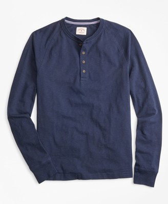Brooks Brothers Slub Cotton Jersey Henley