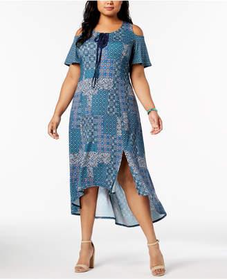 NY Collection Plus & Petite Plus Size Cold-Shoulder Dress