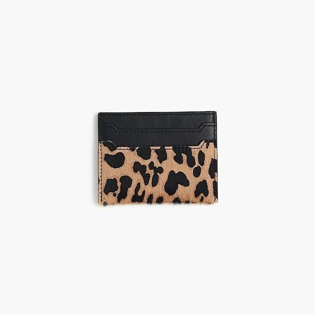 Card case in calf hair