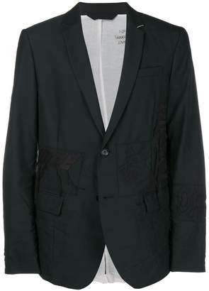 Diesel embroidered formal blazer