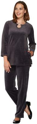 Factory Quacker Keyhole Velour Tunic and Pants Set