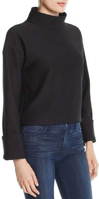 Kenneth Cole Ribbed Funnel-Neck Top