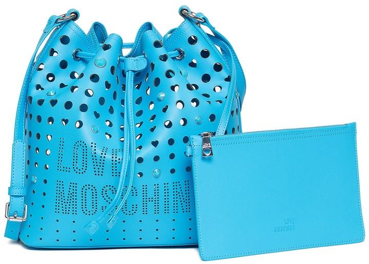 Love Moschino LOVE Moschino Laser Cutout Hobo Bag