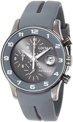 Locman (ロックマン) - [ロックマン]LOCMAN 腕時計 アイランド クオーツクロノグラフ シリコン ユニセックス 0620 0620GUGY-GYW2SIA 【正規輸入品】
