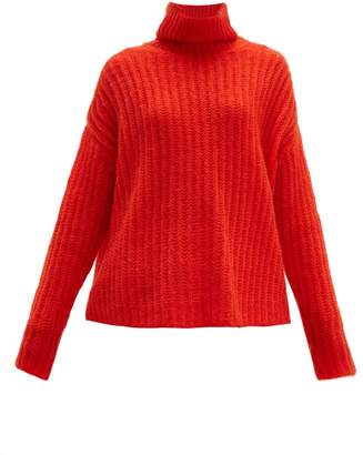 Marni Roll Neck Mohair Blend Sweater - Womens - Red