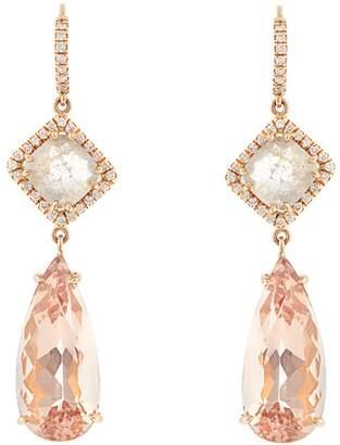 NSR NINA RUNSDORF Diamond, morganite & pink-gold earrings