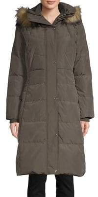 Karl Lagerfeld Paris Faux Fur-Trimmed Down Parka