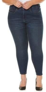Rafaella Plus Whiskered Ankle Jeans