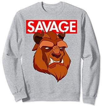 Disney Beauty & the Beast Savage Face Graphic Sweatshirt