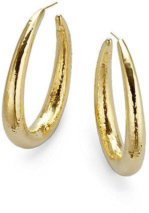IPPOLITA 18K Yellow Gold Long Hoop Earrings/2.5